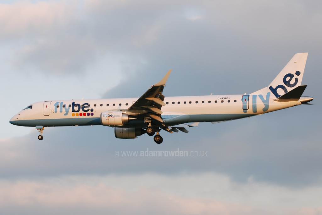 Photo of Flybe Embraer ERJ-195-200LR G-FBEK (cn 19000168) at Manchester Ringway Airport (MAN) on 13th May 2008