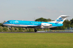 Photo of KLM Cityhopper Fokker 70 PH-KZK (cn 11576) at Manchester Ringway Airport (MAN) on 13th May 2008