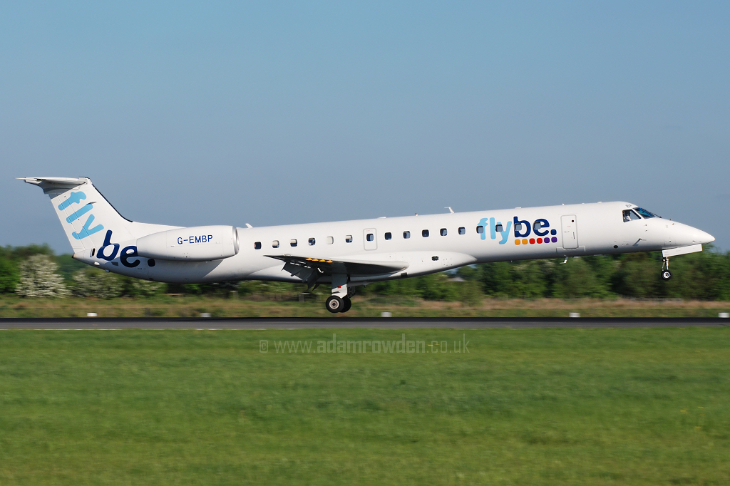 Photo of Flybe Embraer ERJ-145EU G-EMBP (cn 14500300) at Manchester Ringway Airport (MAN) on 14th May 2008