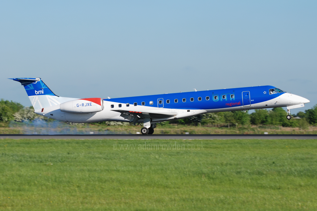 Photo of bmi regional Embraer ERJ-145EP G-RJXE (cn 14500245) at Manchester Ringway Airport (MAN) on 14th May 2008