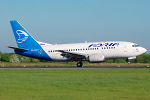 Photo of Adria Airways Boeing 737-528 S5-AAM (cn 25236/2443) at Manchester Ringway Airport (MAN) on 14th May 2008