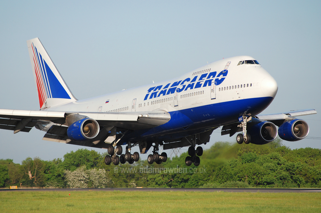 Photo of Transaero Airlines Boeing 747-219B VP-BQC (cn 22725/563) at Manchester Ringway Airport (MAN) on 14th May 2008