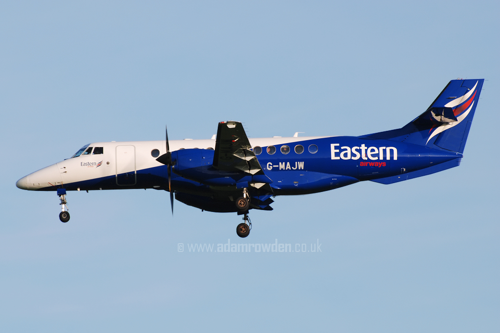 Photo of Eastern Airways British Aerospace BAe Jetstream 41 G-MAJW (cn 41015) at Newcastle Woolsington Airport (NCL) on 19th May 2008