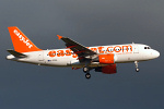 Photo of easyJet Airbus A319-111 G-EZBA (cn 2860) at London Stansted Airport (STN) on 12th August 2008