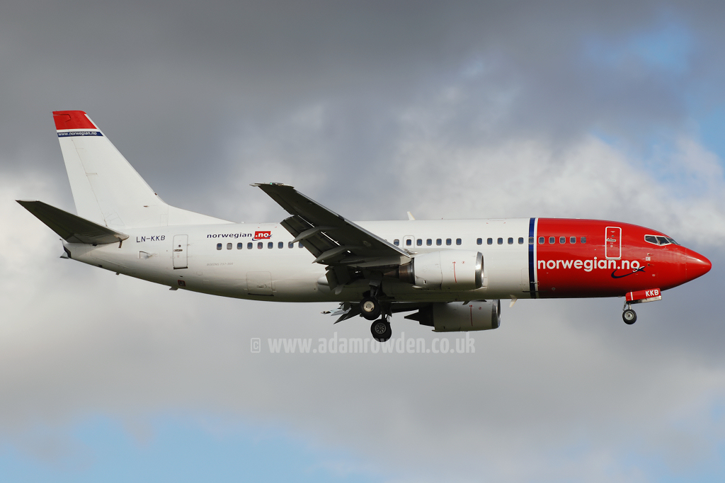 Photo of Norwegian Air Shuttle Boeing 737-33A LN-KKB (cn 27457/2756) at London Stansted Airport (STN) on 12th August 2008