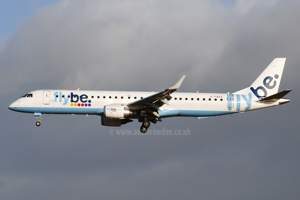 Photo of Flybe Embraer ERJ-195-200LR G-FBEE (cn 19000093) at Newcastle Woolsington Airport (NCL) on 24th October 2008