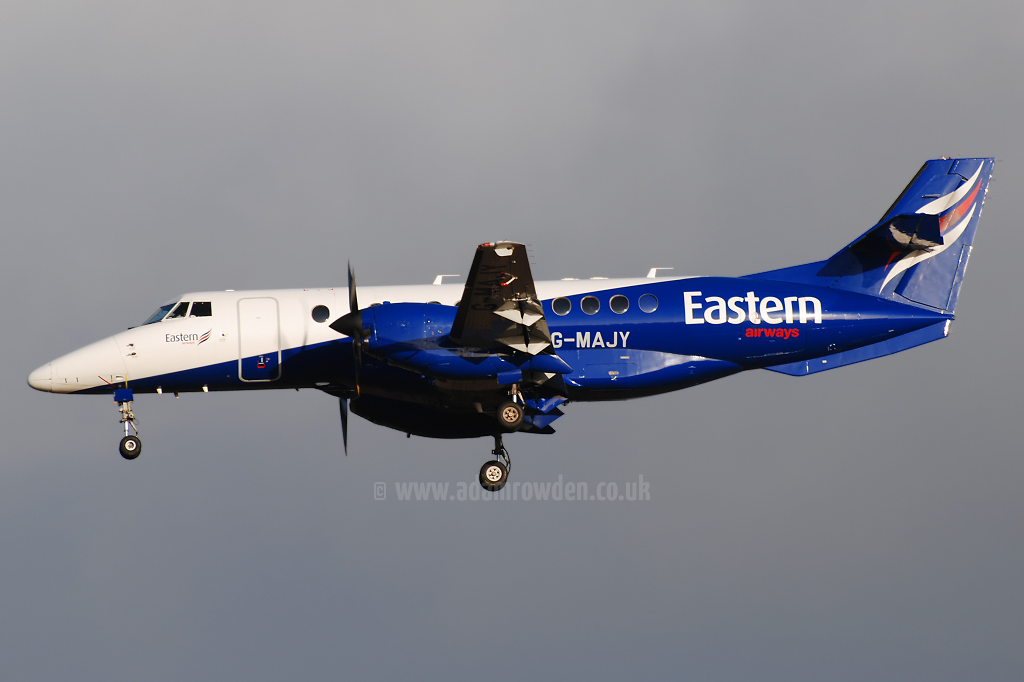Photo of Eastern Airways British Aerospace BAe Jetstream 41 G-MAJY (cn 41099) at Newcastle Woolsington Airport (NCL) on 24th October 2008