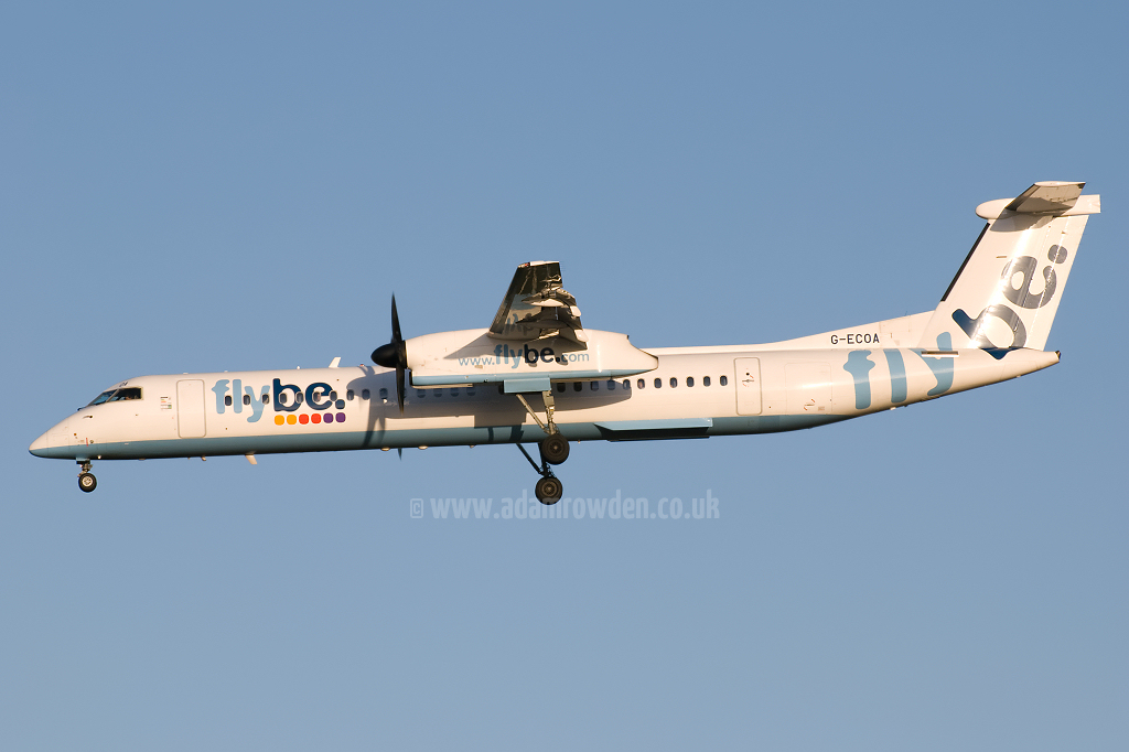 Photo of Flybe De Havilland Canada DHC-8-402Q Dash 8 G-ECOA (cn 4180) at Newcastle Woolsington Airport (NCL) on 6th December 2008