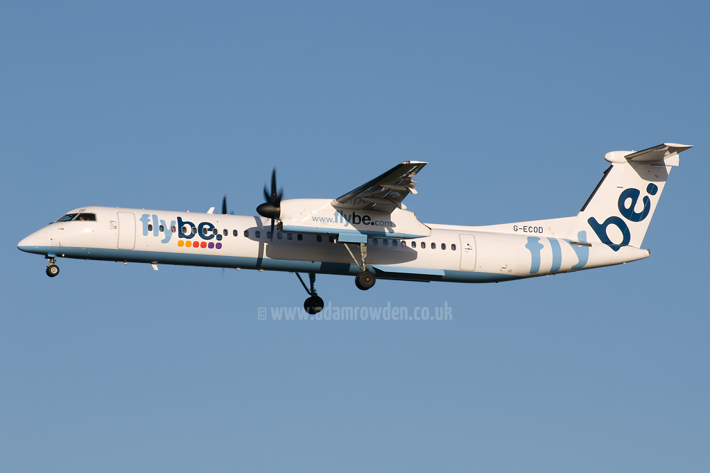 Photo of Flybe De Havilland Canada DHC-8-402Q Dash 8 G-ECOD (cn 4206) at Newcastle Woolsington Airport (NCL) on 6th December 2008