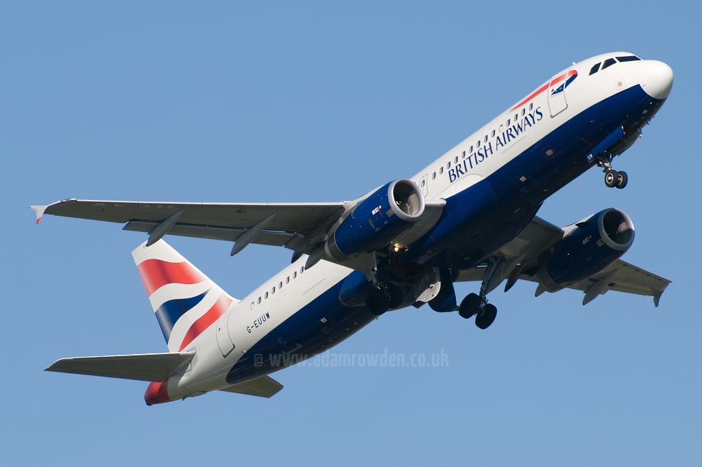 Photo of British Airways Airbus A320-232 G-EUUW (cn 3499) at Newcastle Woolsington Airport (NCL) on 13th May 2009