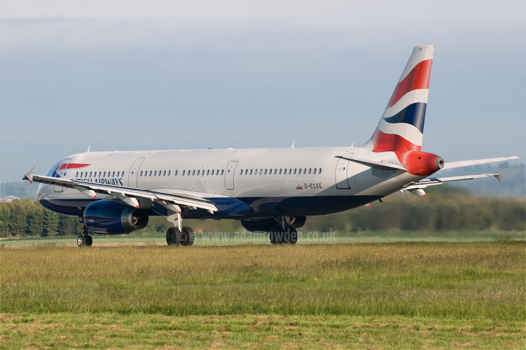 Photo of British Airways Airbus A321-231 G-EUXE (cn 2323) at Newcastle Woolsington Airport (NCL) on 23rd May 2009