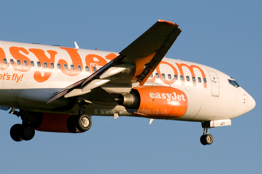 Photo of easyJet Boeing 737-73V G-EZJY (cn 32420/1341) at Newcastle Woolsington Airport (NCL) on 23rd May 2009
