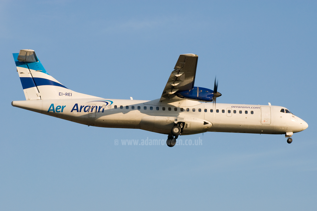 Photo of Aer Arran Aérospatiale ATR-72-201 EI-REI (cn 267) at Newcastle Woolsington Airport (NCL) on 24th May 2009