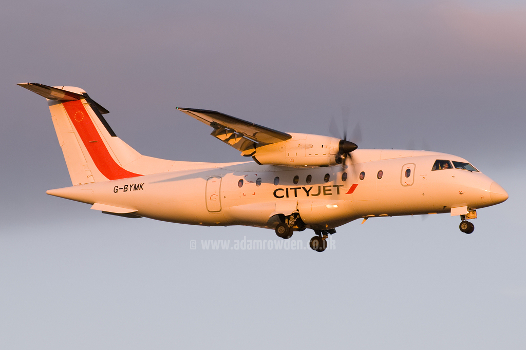 Photo of ScotAirways (opf CityJet) Dornier 328-110 G-BYMK (cn 3062) at Newcastle Woolsington Airport (NCL) on 24th May 2009