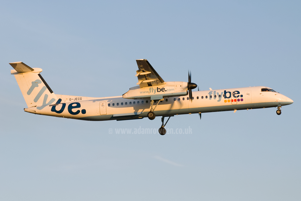 Photo of Flybe De Havilland Canada DHC-8-402Q Dash 8 G-JECG (cn 4098) at Newcastle Woolsington Airport (NCL) on 24th May 2009