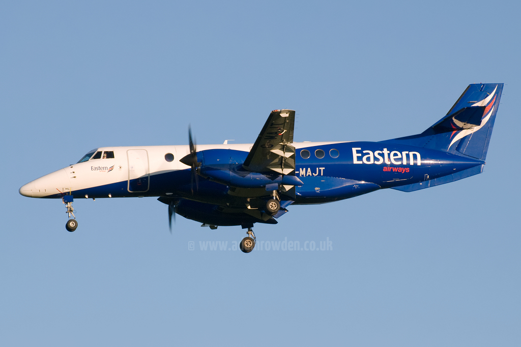 Photo of Eastern Airways British Aerospace BAe Jetstream 41 G-MAJT (cn 41040) at Newcastle Woolsington Airport (NCL) on 4th June 2009