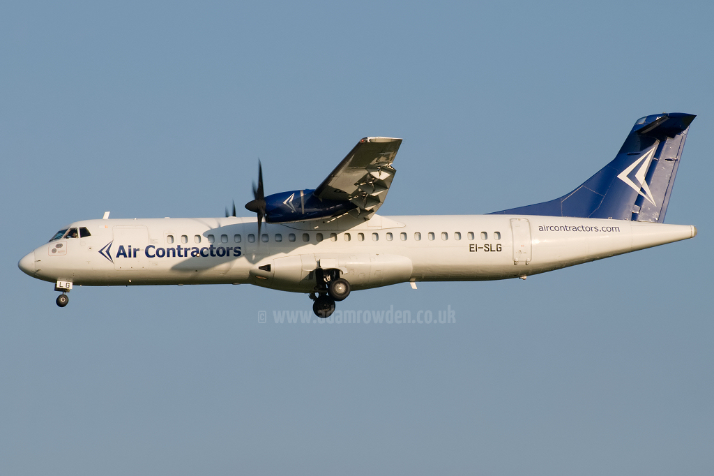 Photo of Air Contractors Aérospatiale ATR-72-202F EI-SLG (cn 183) at London Stansted Airport (STN) on 21st June 2010