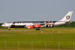 Photo of Air Asia X Airbus A340-313X 9M-XAC (cn 278) at London Stansted Airport (STN) on 26th June 2010