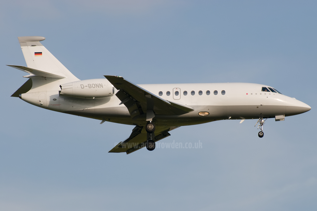 Photo of Untitled (Deutsche Telekom) Dassault Falcon 2000 D-BONN (cn 118) at London Stansted Airport (STN) on 30th June 2010