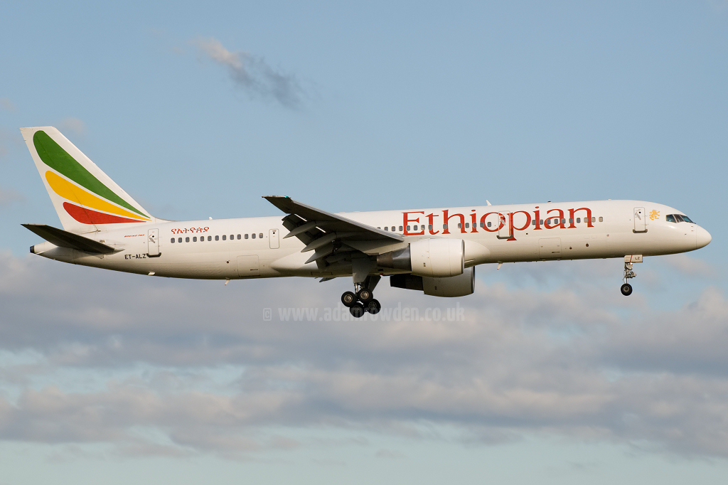 Photo of Ethiopian Airlines Boeing 757-231 ET-ALZ (cn 30319/883) at London Stansted Airport (STN) on 11th July 2010